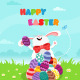 Bunny Celebrating Easter - GraphicRiver Item for Sale