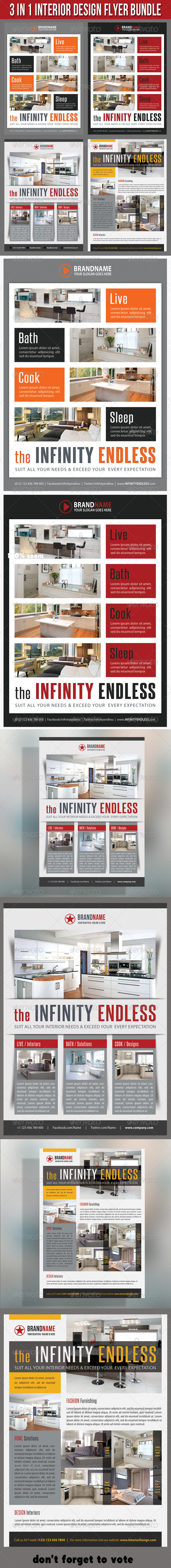 GraphicRiver 3 in 1 Interior Product Flyer Bundle 04 7292371