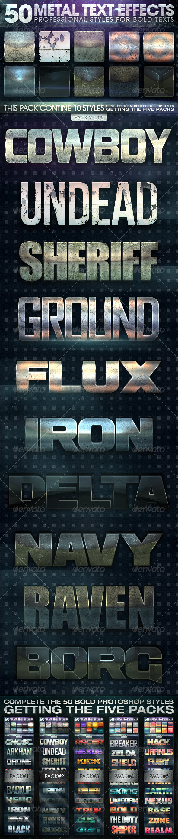 GraphicRiver 50 Metal Text Effects 2 of 5 7300285