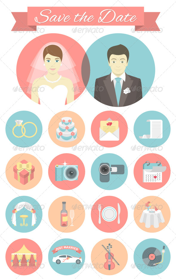 GraphicRiver Wedding Icons 7300431