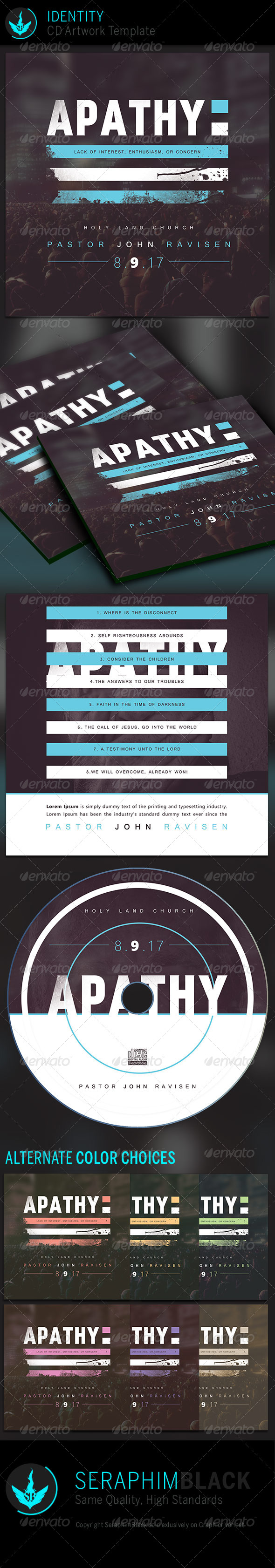 GraphicRiver Apathy CD Artwork Template 7300951
