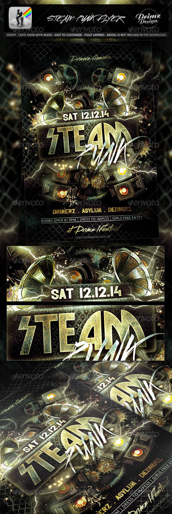 GraphicRiver Steam Punk Flyer 7301315