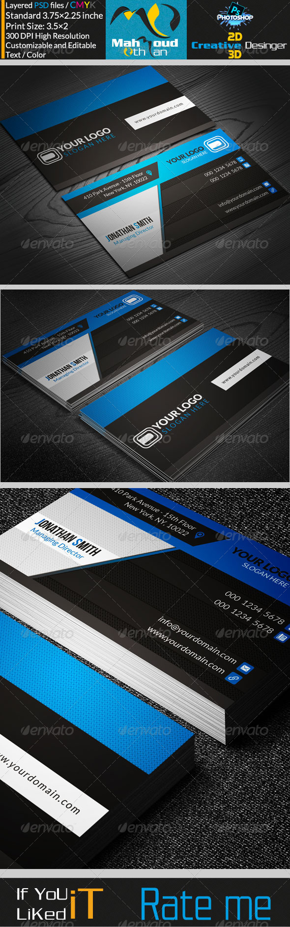 GraphicRiver Corportae Business Card V03 7301394