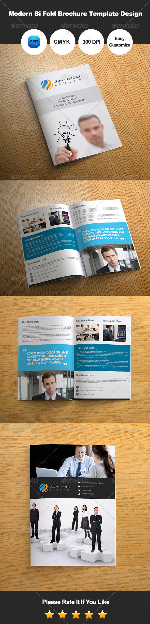 GraphicRiver Modern Bi Fold Brochure Template Design 7301395