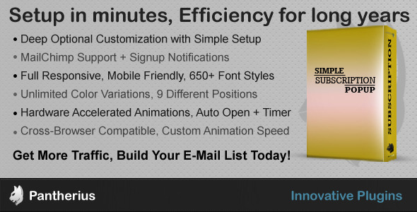 CodeCanyon Simple Subscription Popup-jQuery Email Signup Form 7301421