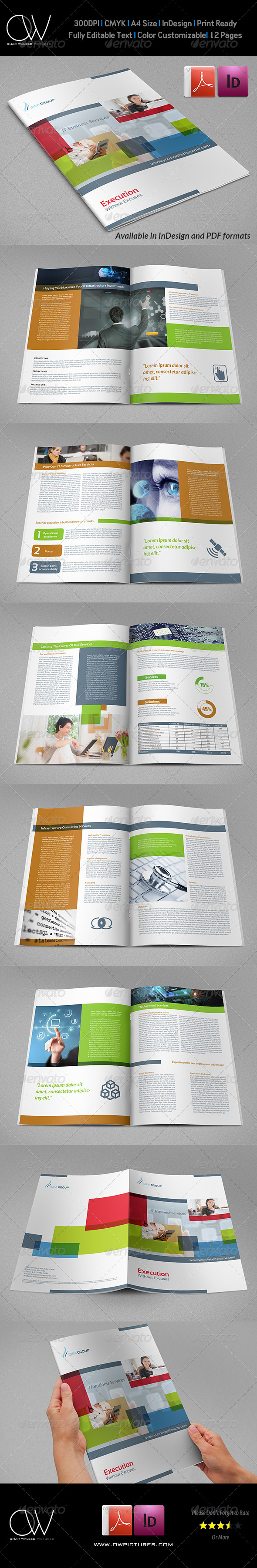 GraphicRiver IT Company Brochure Design Template 12 Pages 7301471