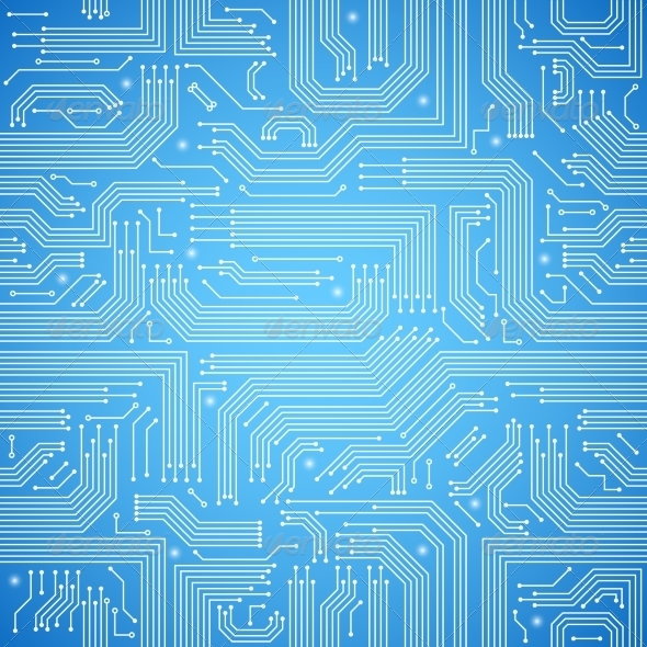 GraphicRiver Circuit Board Seamless Blue Pattern 7301725