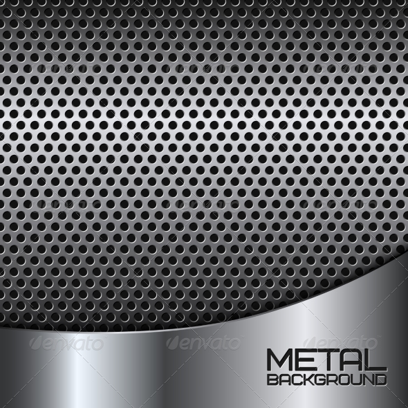GraphicRiver Abstract Metal Background with Perforation 7301747