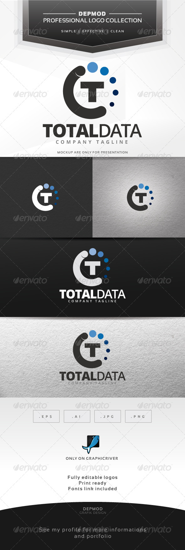 GraphicRiver Total Data Logo 7301813
