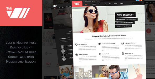 ThemeForest Volt Multipurpose PSD Template 7161833