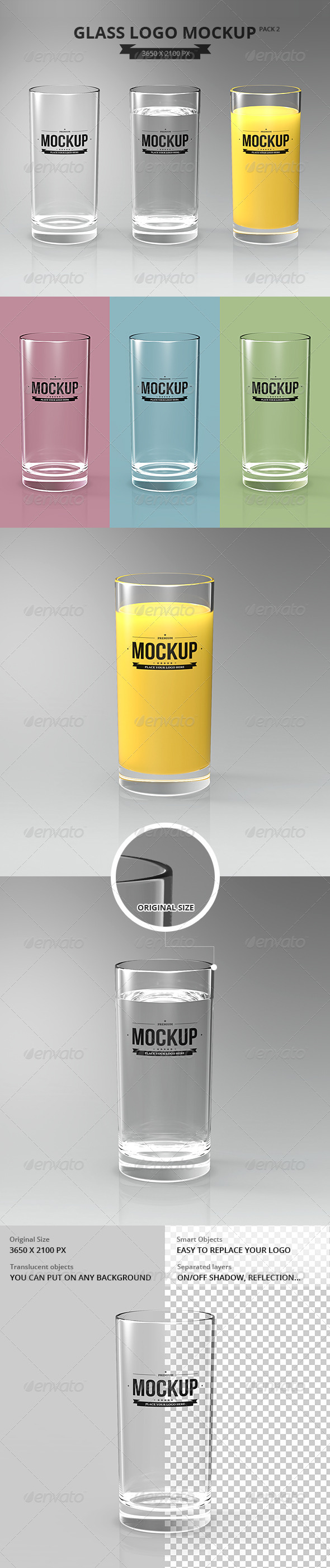 GraphicRiver Glasses Logo Mockup Pack 2 7301861