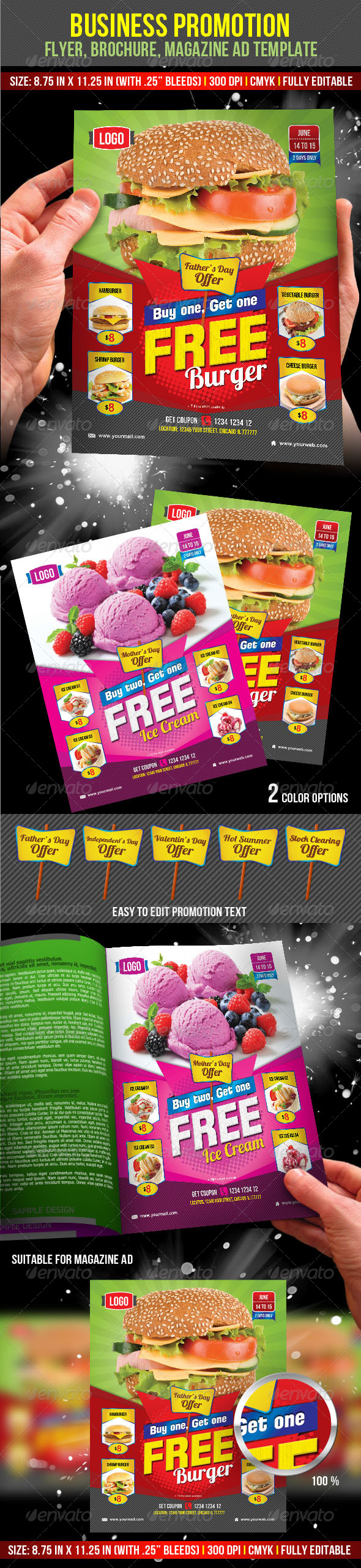 GraphicRiver Business Promotion Flyer Magazine Ad Template 7290674