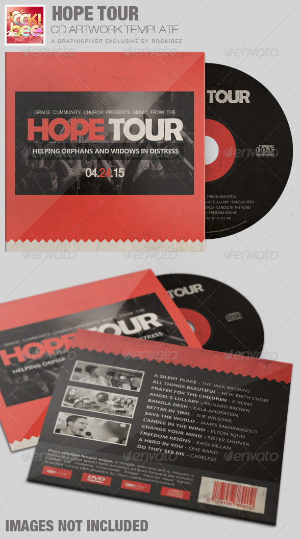 GraphicRiver Hope Tour Charity CD Artwork Template 7301874