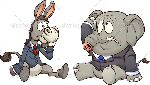 GraphicRiver Donkey and Elephant 7301920