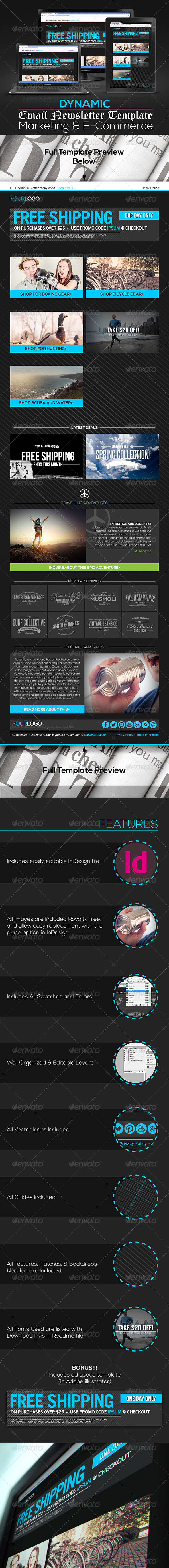 GraphicRiver Dynamic Marketing & E-Commerce Email Template 7301930