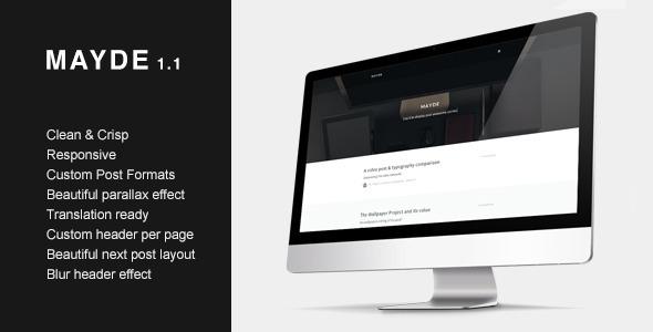 Mayde - Refreshing Blogging Theme