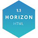 Free Download Horizon – One Page HTML5 Template