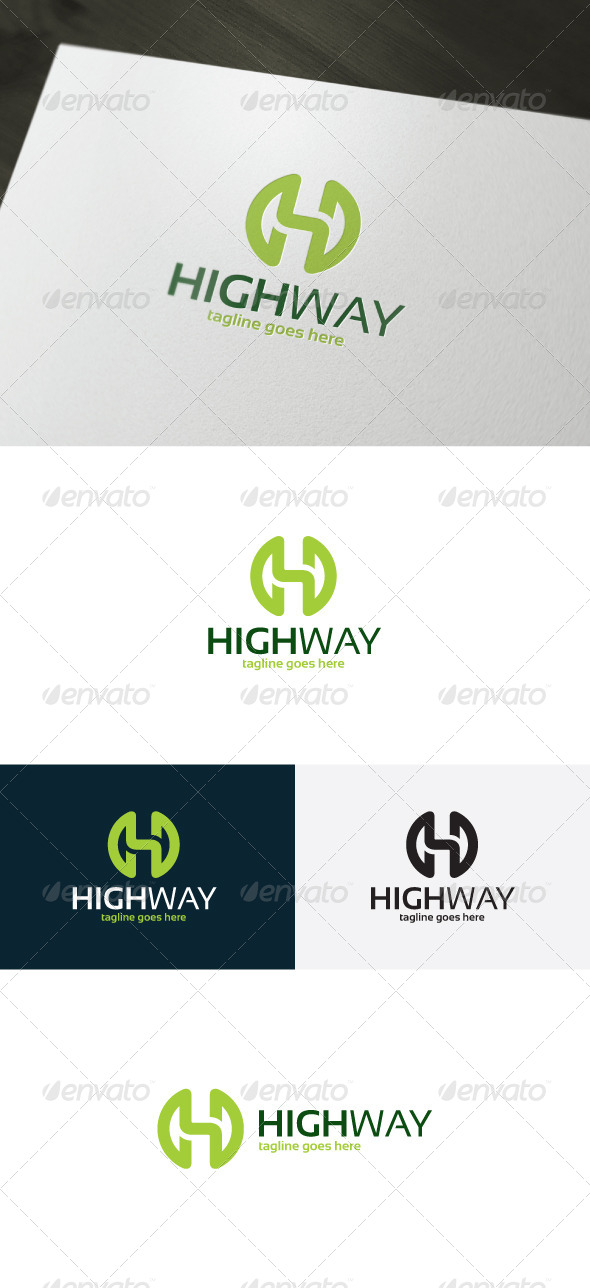 GraphicRiver High Way Logo Letter H 7301958