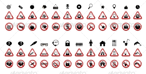 GraphicRiver Set of Prohibition Signs 7301959