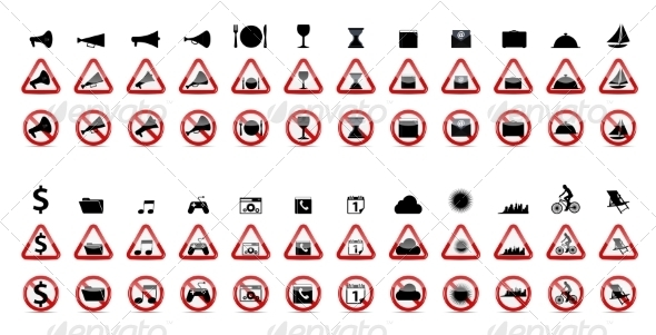 GraphicRiver Set of Prohibition Signs 7301961