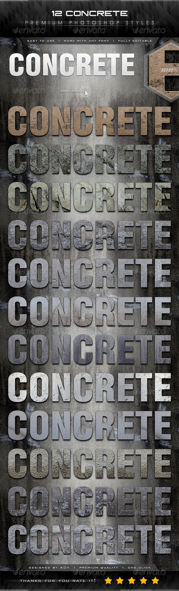 GraphicRiver 12 Concrete Styles Vol.1 7240168