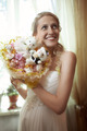 Beautiful young bride with a wedding bouquet - PhotoDune Item for Sale