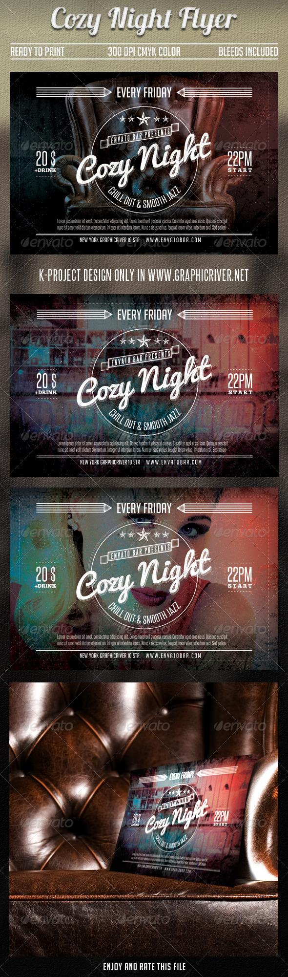 GraphicRiver Cozy Night Flyer 7302450