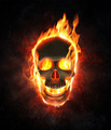 Evil skull in flames and smoke - PhotoDune Item for Sale