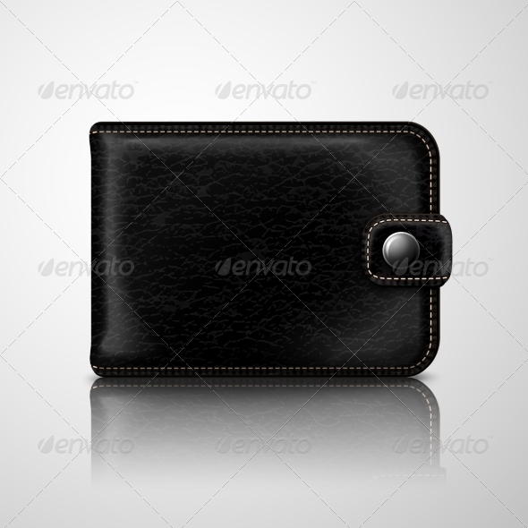 GraphicRiver Classic Black Wallet Leather Textured 7302843