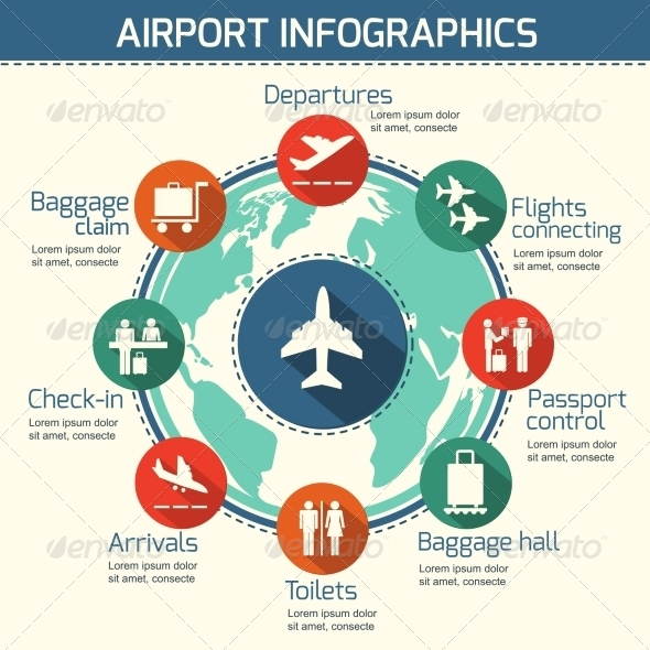 GraphicRiver Airport Infographic Concept 7302849