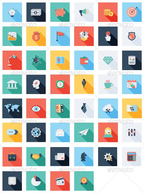 GraphicRiver 47 Business & SEO Icons Set 7302850