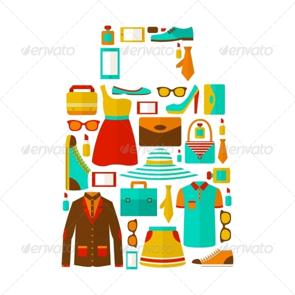 GraphicRiver Shopping Bag Shaped from Clothes 7302855