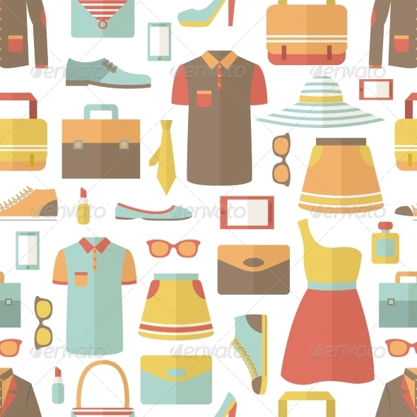 GraphicRiver Shopping Seamless Pattern 7302856
