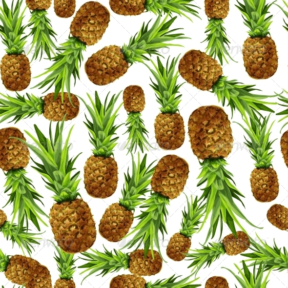 GraphicRiver Pineapple Seamless Pattern 7302883