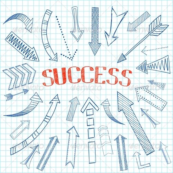 GraphicRiver Success Arrows Icon Sketch 7302896