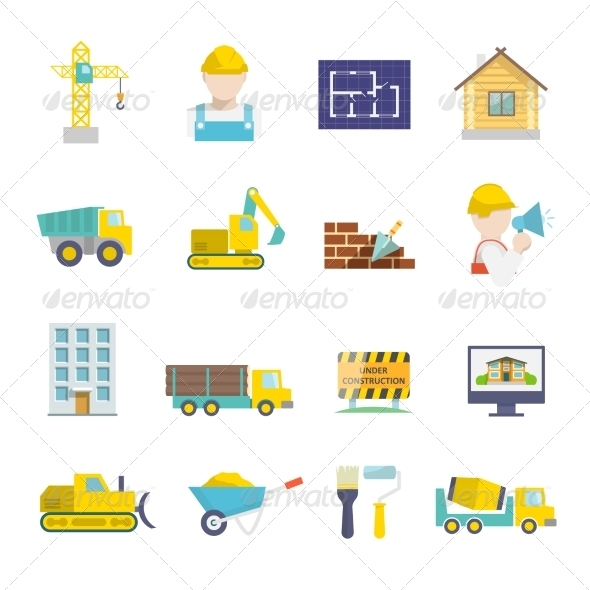 GraphicRiver Construction Icons Set 7302904