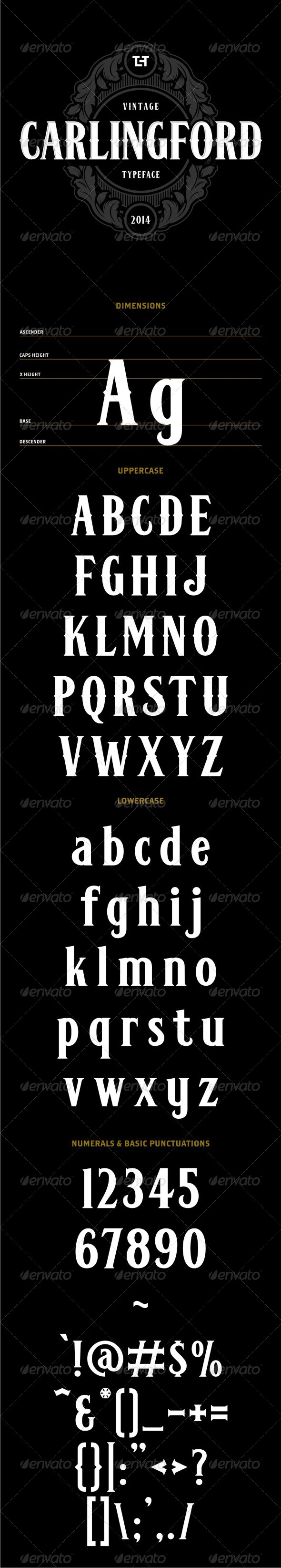 GraphicRiver Carlingford Typeface 7303233