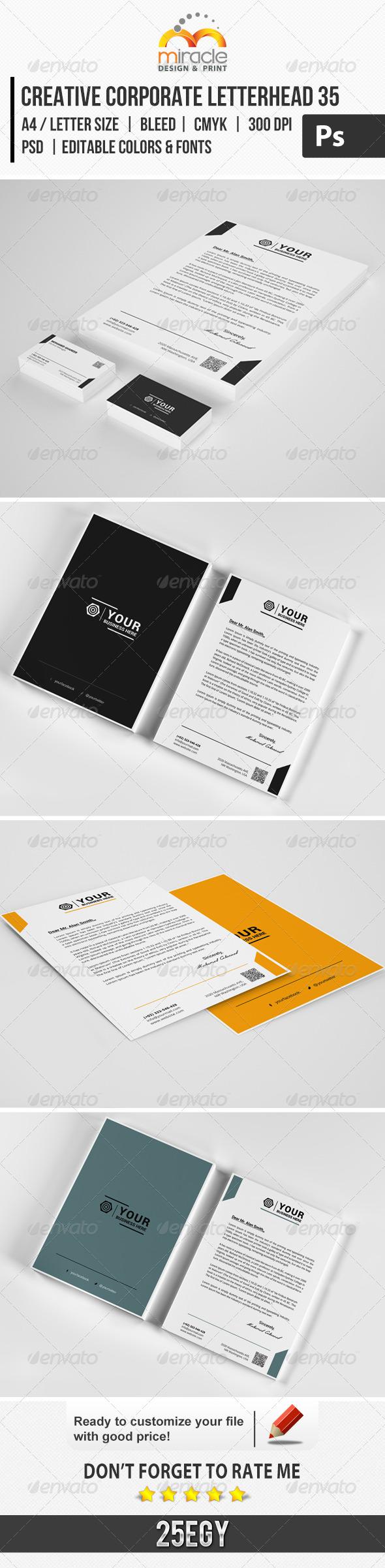 GraphicRiver Creative Corporate Letterhead 35 7303398