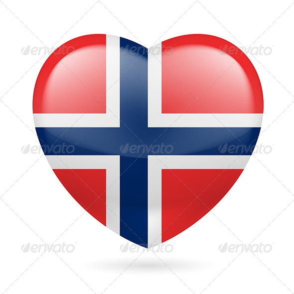 GraphicRiver Heart icon of Norway 7303416