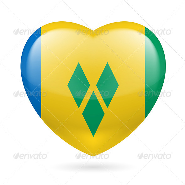 GraphicRiver Heart icon of Saint Vincent and the Grenadines 7303424
