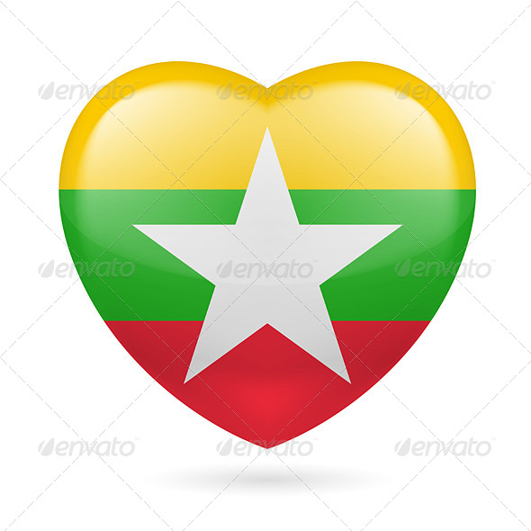 GraphicRiver Heart Icon of Myanmar 7303425