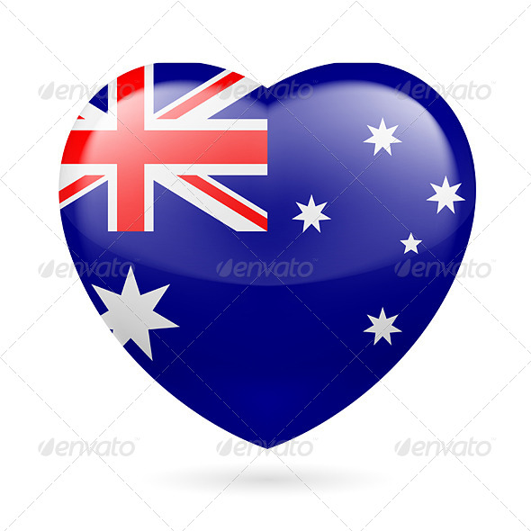 GraphicRiver Heart Icon of Australia 7303605