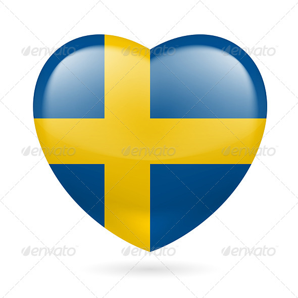 GraphicRiver Heart Icon of Sweden 7303606