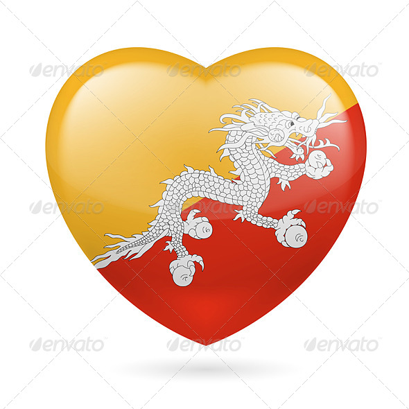 GraphicRiver Heart Icon of Bhutan 7304225