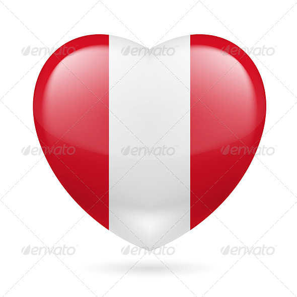 GraphicRiver Heart icon of Peru 7304226