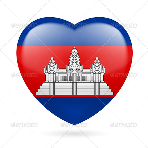 GraphicRiver Heart Icon of Cambodia 7304227