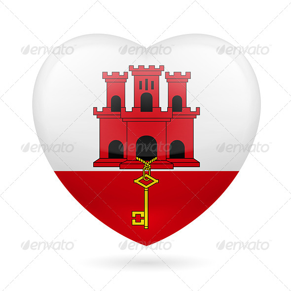 GraphicRiver Heart icon of Gibraltar 7304228