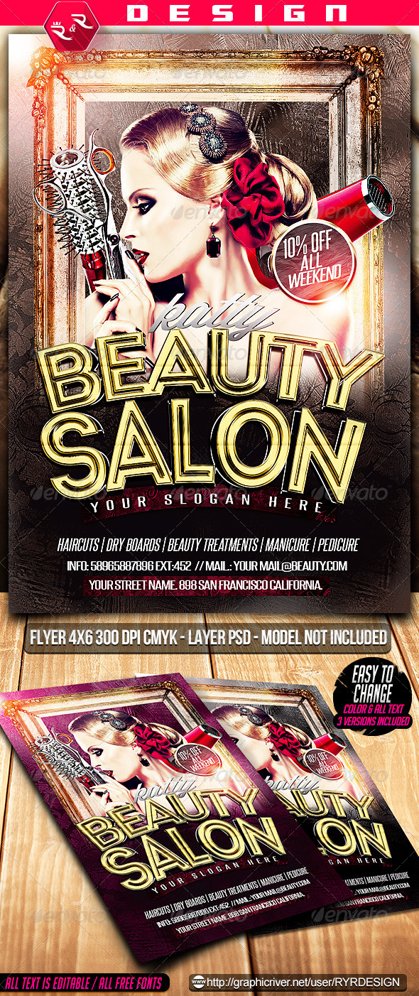 GraphicRiver Beauty Salon Flyer PSD 7304563