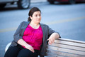 Businesswoman - Relaxing on a bench - PhotoDune Item for Sale