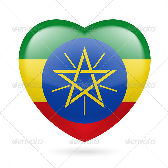 GraphicRiver Heart Icon of Ethiopia 7304732